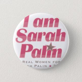 Ich bin Sarah Palin Runder Button 5,7 Cm