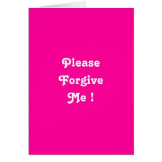Ich bin Schmerzen verzeihe mir Grußkarte bitte