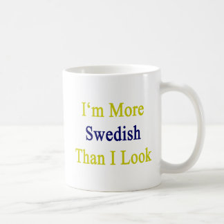 Ich bin schwedischer, als ich schaue kaffeetasse