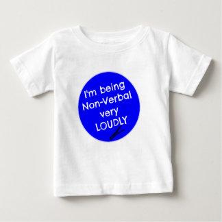 Ich bin sehr laut nonverbal baby t-shirt