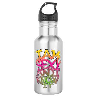 Ich bin sexy und ich kenne es - Graffiti Edelstahlflasche