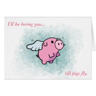Ich bin Sie Karte liebevoll