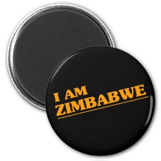 Ich bin Simbabwe Runder Magnet 5,7 Cm