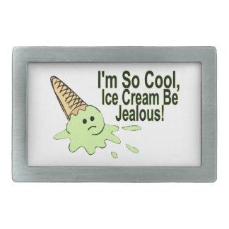 Ich bin so coole Eiscreme bin eifersüchtig Rechteckige Gürtelschnalle