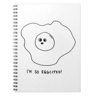 Ich bin so Eggcited Notizblock