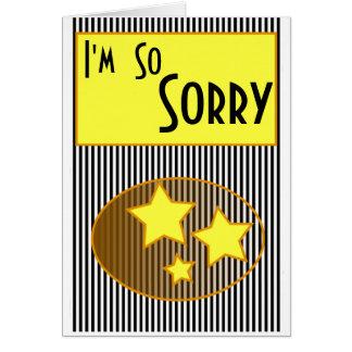 Ich bin so traurige gelbe Sterne u. streift Karte