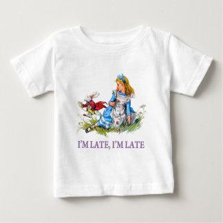 Ich bin spät, ich bin spät für ein sehr wichtiges baby t-shirt