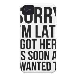 Ich bin spät iPhone 4 hülle