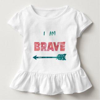 Ich bin tapfer! Kleinkind-Mädchen-T - Shirt