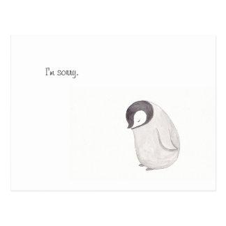 Ich bin traurige niedliche Penguin-Postkarte Postkarte