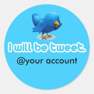 Ich bin Tweet. Runder Aufkleber