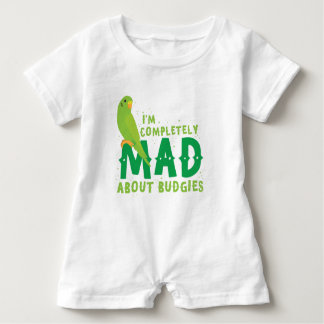 Ich bin über budgies vollständig wütend baby strampler