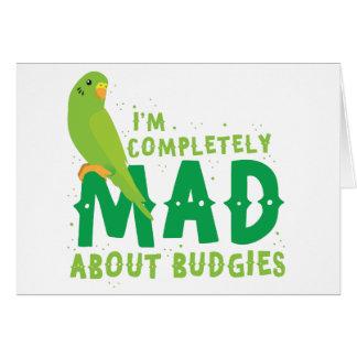 Ich bin über budgies vollständig wütend karte