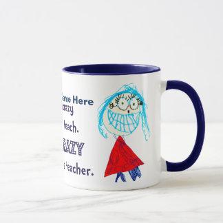 Ich bin über Sein ein Lehrer - personalisierte Tasse