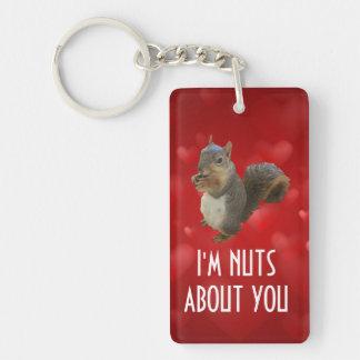 Ich bin über Sie Brown-Eichhörnchen Nuts Schlüsselanhänger