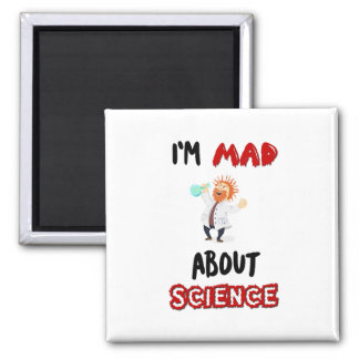 Ich bin über Wissenschaft Protest-März-Magneten Quadratischer Magnet
