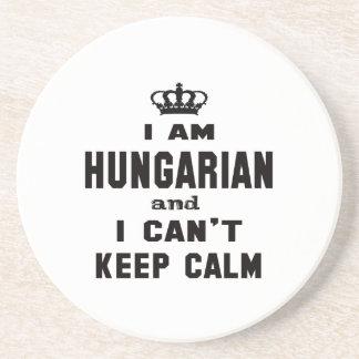 Ich bin ungarisch und ich kann Ruhe nicht behalten Sandstein Untersetzer