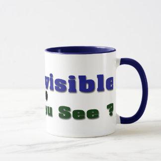 Ich bin unsichtbar tasse