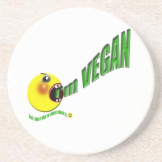 Ich bin vegan, aber ich mag nicht über es schreien getränkeuntersetzer