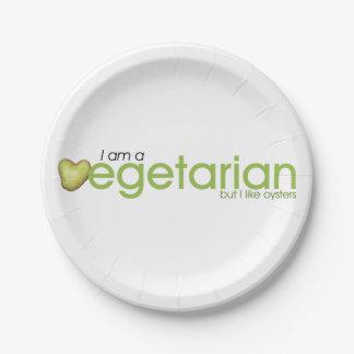 Ich bin vegetarischer Pappteller