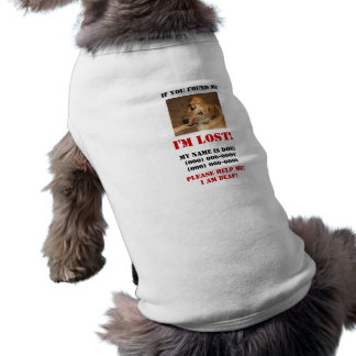 Ich bin verloren! Tauber Hund Ärmelfreies Hunde-Shirt