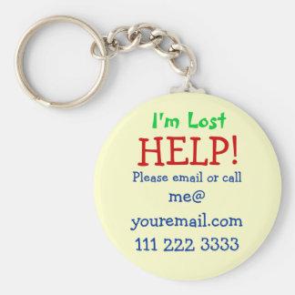 Ich bin verlorenes Keychain Schlüsselanhänger