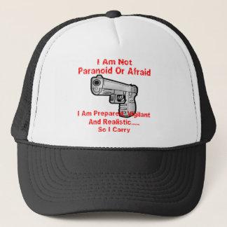 Ich bin vorbereitet realistisch, aufmerksam und truckerkappe