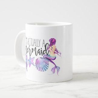 Ich bin wirklich eine Meerjungfrauwatercolor-Tasse Jumbo-Tasse