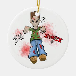 Ich bin Zombie-Jungen-Spielzeug durch GT Artland Rundes Keramik Ornament