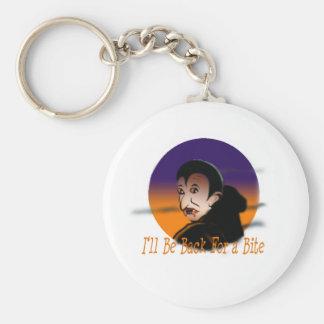 Ich bin zurück für einen Biss (Halloween-Vampir) Schlüsselanhänger
