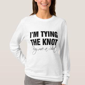Ich binde den Knoten. Kaufen Sie mich einen Schuss T-Shirt