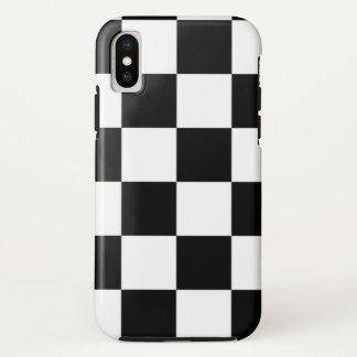 Ich blute, Karo-Schwarz-weiße Checkered Gewohnheit iPhone X Hülle