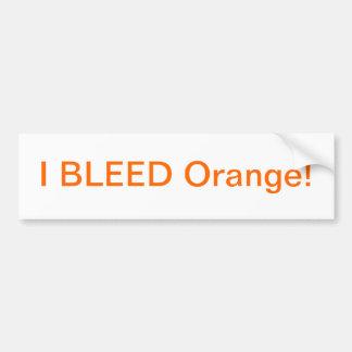 Ich blute orange Autoaufkleber