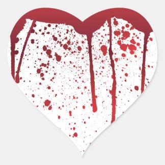 Ich blute Theater 1 Herz-Aufkleber