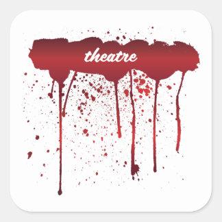 Ich blute Theater 1 Quadratischer Aufkleber