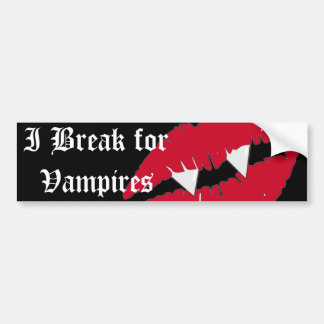 Ich breche für Stoß die Vampirs-roten Lippen Autoaufkleber