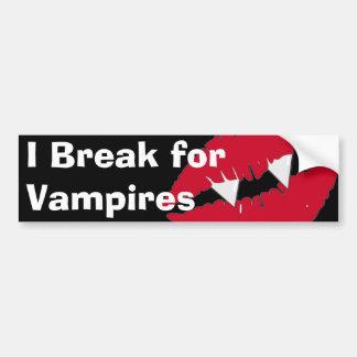 Ich breche für Vampires-Autoaufkleber Autoaufkleber