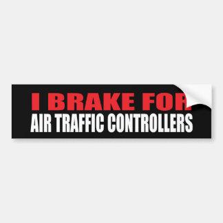 Ich bremse für Fluglotsen Autoaufkleber