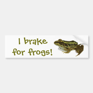 Ich bremse für Frösche! Autoaufkleber