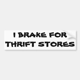 Ich bremse für Gebrauchtwarenladen Autoaufkleber