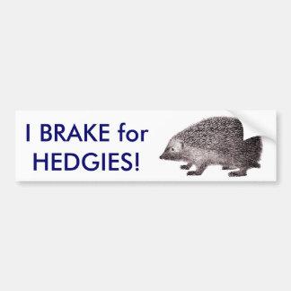 Ich bremse für HEDGIES! Retten Sie Igeln Autoaufkleber
