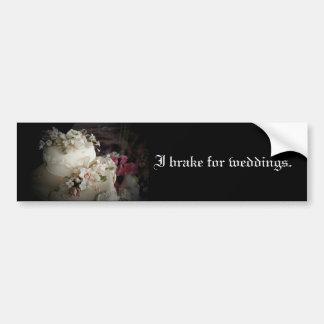 Ich bremse für Hochzeits-Autoaufkleber Autoaufkleber
