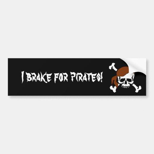 Ich bremse für Piraten! Auto Aufkleber