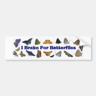 Ich bremse für Schmetterlinge Autoaufkleber