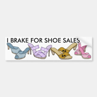 Ich bremse für Schuh-Verkäufe durch SRF Autoaufkleber