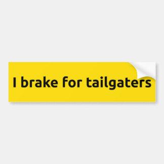 Ich bremse für tailgaters autoaufkleber