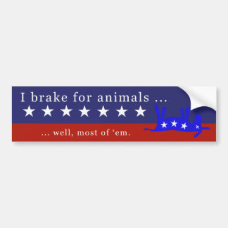 Ich bremse für Tiere (keine Esel) Autoaufkleber