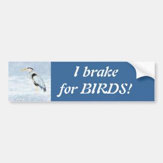Ich bremse für Vögel - Vogelbeobachtung mit großes Autoaufkleber