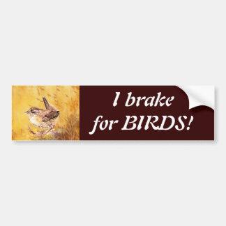 Ich bremse für Vögel - Vogelbeobachtung mit niedli Autoaufkleber