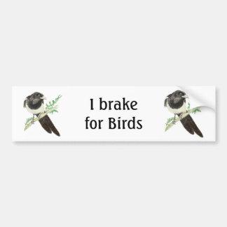 Ich bremse für Vögel, Watercolor-Elster für Vogelb Autoaufkleber